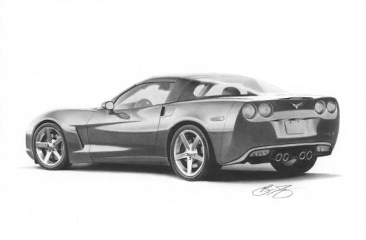 Corvette Drawing by golfiscool