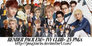 [Render Pack] EXO for IVY Club - 25 PNGs by jangkarin