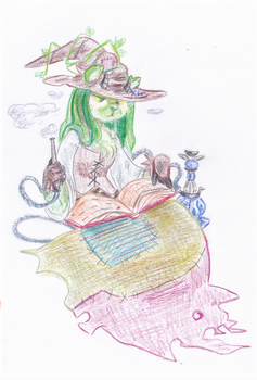 Sophie the swamp witch SMOKING by CountFangula