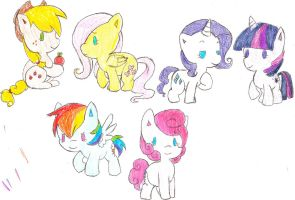 chibi mlp drawings by cookietime88