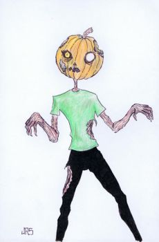 Pumpkin Zombie [46a] by JRS-ART