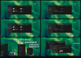 Aero Dark V2 Theme Win10 Fall Creators by Cleodesktop