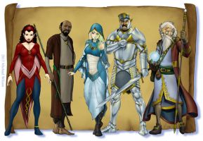 Fantasy Characters 002 by mikewilsonart