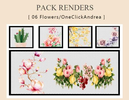 Pack Render Flower #2 [oneclickandrea] by andreakaisoo