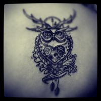 owl  in progress by ABYSS-TAT-2S