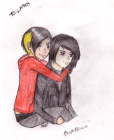 Piggy back with Gee by ariion