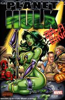 Stripper She Hulk sketch cover by gb2k