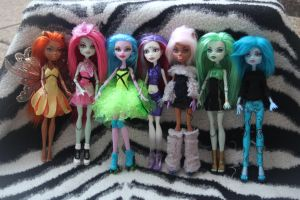 My new funky dolls by rainbow1977