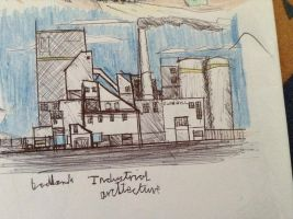 team fortress 2 industrial building sketch by Lambda-fallout125