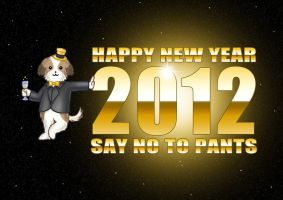 Happy 2012 from Ozzy by Kittensoft