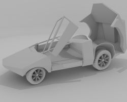 Futuristic Sports Car W.i.P by AceDarkfire