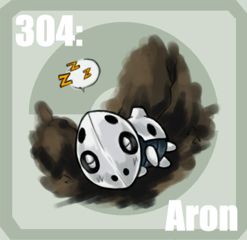 304 Aron by Pokedex