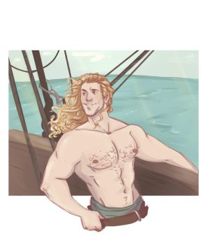 Pirate AU Cullen by captainceranna