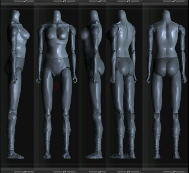 action figure Zbrush female by renatothally