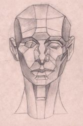 Traditional Drawing Asaro Head Front View Session! by Halasaar01