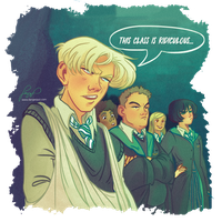 Slytherin in the Boggart class 2/6 by Danger-Jazz
