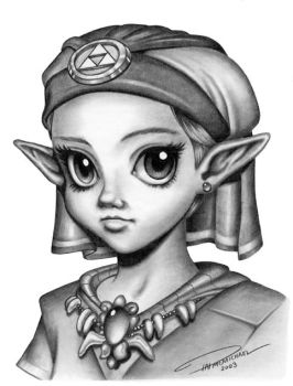 Young Princess Zelda by pat-mcmichael
