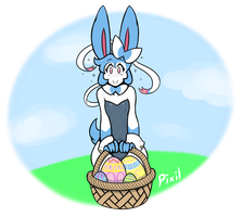 (Late) Easter Pixil by AngelTheCatgirl