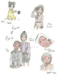 Star Wars OCs Kara and Kycin Through the Years by Ryusora
