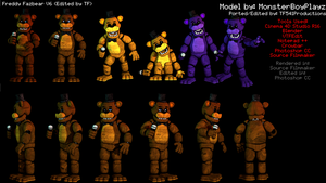 Freddy Fazbear Model Showcase by TF541Productions