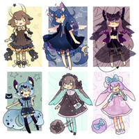 Midnight Stars Adopt Batch - CLOSED by kuroeko-adopts