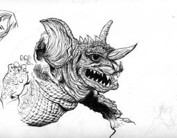 Sketch Page Baragon by NickMockoviak