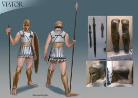 Athenian Hoplite by RobbieMcSweeney