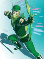 Green Arrow Color by mikemayhew