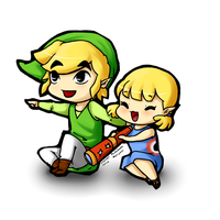 Collab - Link and Aryll by maripexi