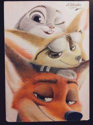 Nick, Finnick and Judy  by AndrejSKalin