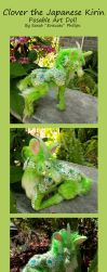 Clover the Japanese Scaled Kirin Posable Art Doll by Eviecats