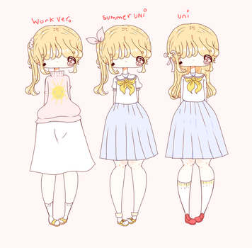 Nana's Outfits uniforms and work ver. by Hyakupasaurus