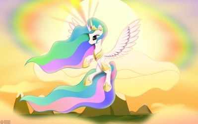 Mighty magic of Celestia by iOVERD