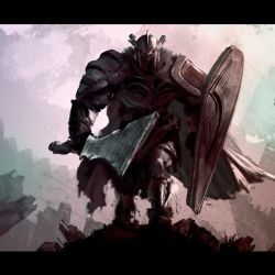 Warrior painting test by joverine
