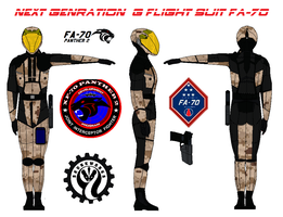 Next Genration  G flight suit FA-70 marpat desert by bagera3005