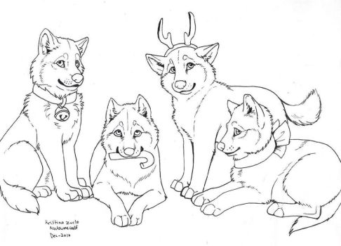 FREE Wolf Gift Lineart by NatsumeWolf