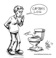 Captain's Log by OuthouseCartoons
