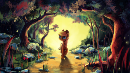 Wonderful forest by INowISeeI