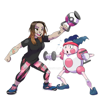 COMM - Pokemon CrossFit Trainer x Mr.Mime by seto
