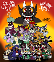Be are welcome to Inkwell Hell! by AVM-Cartoons