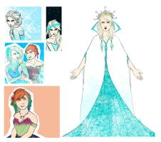 Frozen - sketch by IsabelSparrow