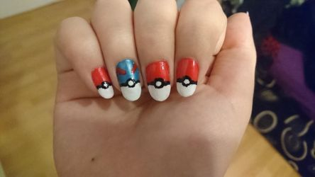 Pokemon nails by Anonymous---Lucifer