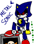 Metal Sonic and Fake item box by mitchika2