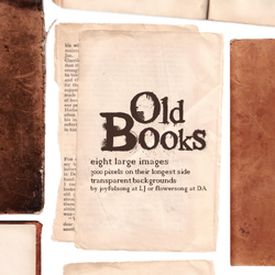 Textures 20: Old Books by flowersong