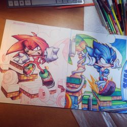 Knuckles Commish WIP 04 by RobDuenas