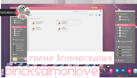 Theme Iconpackager PINCKSALMONLOVE :) by Laurizz11