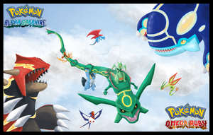 Pokemon Omega Ruby and Pokemon Alpha Sapphire by Sky-Surf