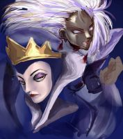 Queen and Storm by Yamamoto1003