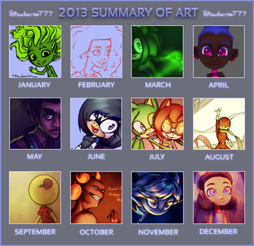 2013 Summary of Art by Crysenley