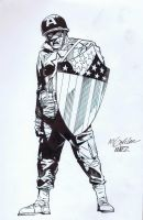Captain America Inks by AlonsoNunez
